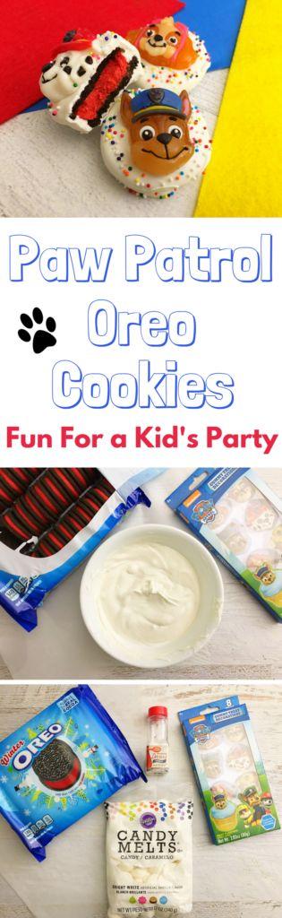 paw patrol birthday party idea, paw patrol cookies
