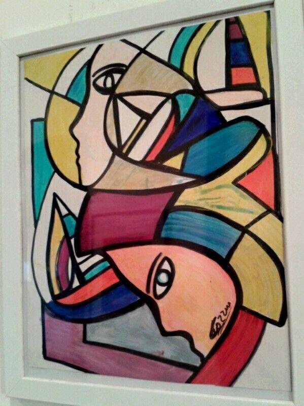"""quadro astratto quadri COZZANI opera unica """"Mujeres lodola faccincani schifano   Arte e antiquariato, Quadri, Tecniche miste   eBay!"""