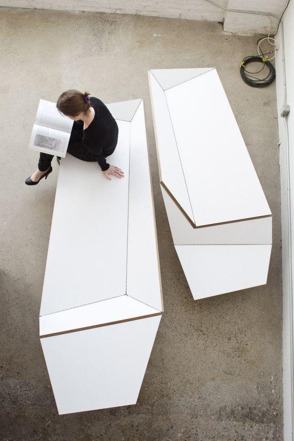 Origami Banco porción arquitectos Blacklab en muebles para el Hogar categoria