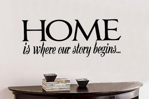 Home Is Where Our 14x36 Vinyl Lettering Wall Quotes Words