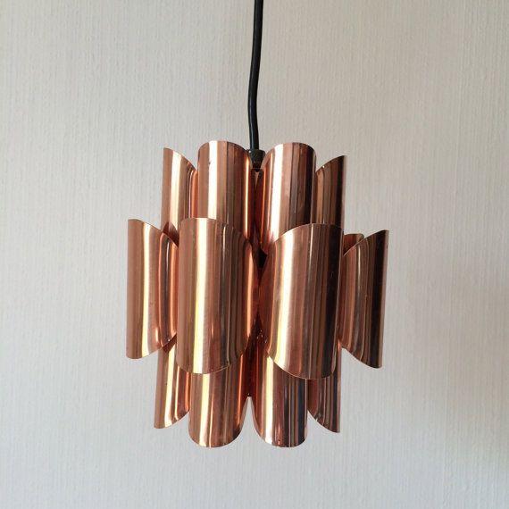 Danish Design pendant copper lamp / Werner Schou / by PotsAndLamps