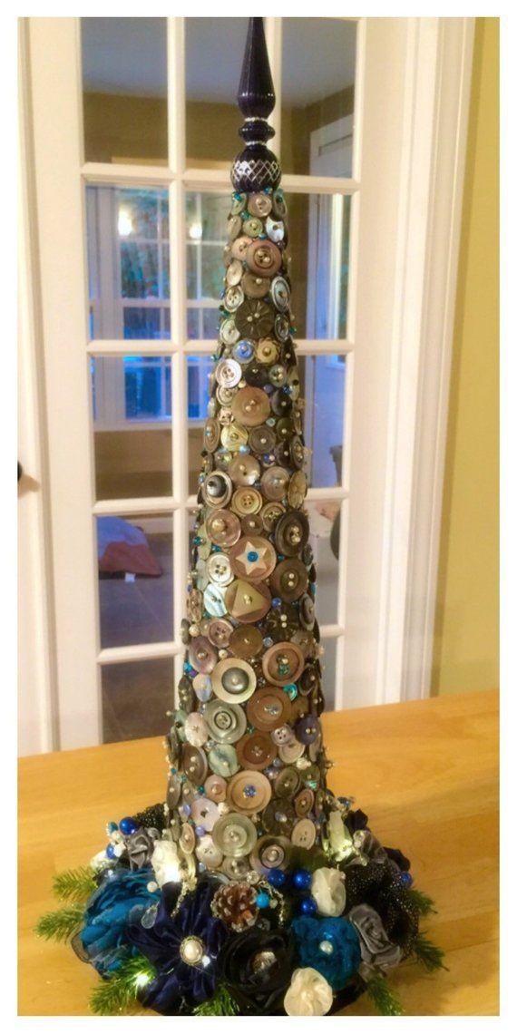 Incredible Antique Button Tree Winter Wedding Centerpiece Christmas Download Free Architecture Designs Remcamadebymaigaardcom