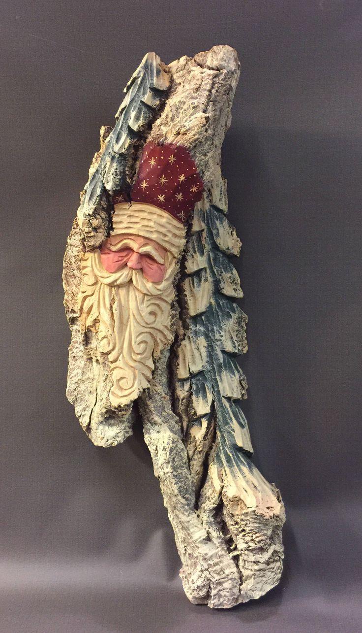 Best hand carved santas images on pinterest