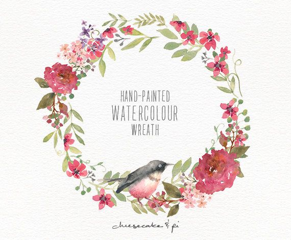 watercolor wreath hand painted floral wreath clipart quinceanera clip art free free quinceanera clipart