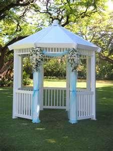 Wedding At Hale Koa Maile Gardens Gazebo