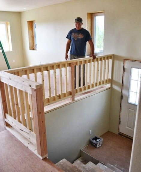 Owner Building A Home: The Momplex | DIYing A Wood Handrail