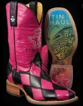 Tin Haul Boots Boots 25% Off and FREE Shipping on http://www.eliswesternwear.com/Harlequin-Boot-by-Tin-Haul/PAKMAABKHFCEGKLA/Product