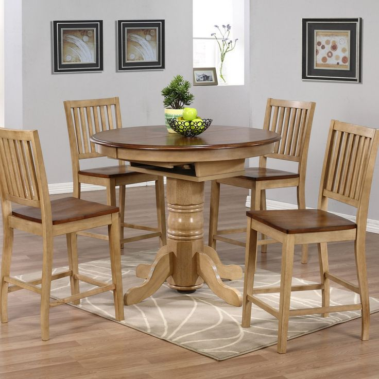 Sunset Trading Brookdale 5 Piece Round Counter Height Table Set with Brookdale Stools - SET574