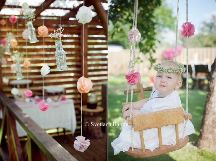 Outdoor decorations christening party crafts pinterest outdoor decorations christening - Decorations for a baptism ...