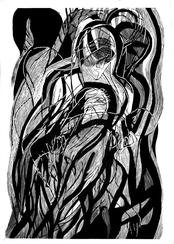 Mother Theresa from Kalkuta, 100x70cm linocut, 2013, Marta Bożyk