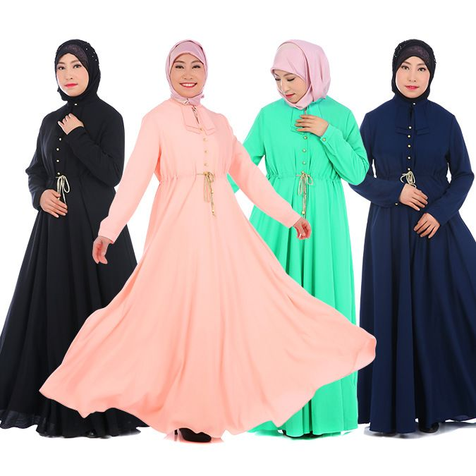 Islamic Clothing For Women Rushed Jilbabs And Abayas Djellaba The New 2017 Ms Summer Muslim Dress Chiffon Abaya Malaysia Robes #Islamic clothing http://www.ku-ki-shop.com/shop/islamic-clothing/islamic-clothing-for-women-rushed-jilbabs-and-abayas-djellaba-the-new-2017-ms-summer-muslim-dress-chiffon-abaya-malaysia-robes/