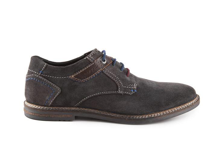 Bugatti - Pánské kotníkové boty z broušené kůže FEDELE EVO U8003-PR3/ šedá