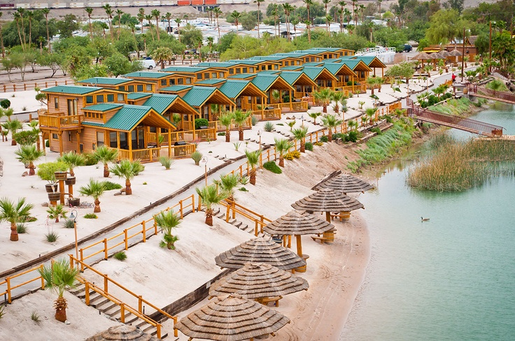 Cabins At Pirate Cove Resort Located In Needles California