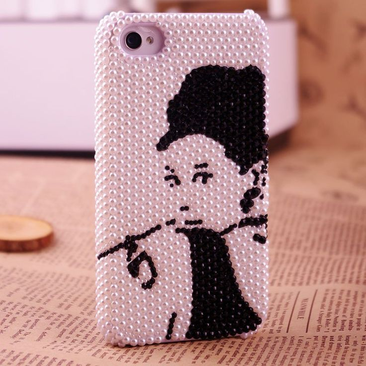 elegant charming Audrey Hepburn phone case for iphone 4/4s bling unique phone cover for iphone 5 830