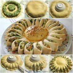 Pastel de queso y espinaca con forma de girasol | Notas | La Bioguía
