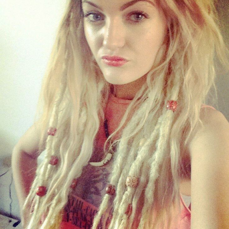 Add length and texture to your look this is 25 19 knotty add length and texture to your look this is 25 19 knotty dreadlock extensions in light blonde color 613 to add waves to your dreadlock exten pmusecretfo Gallery