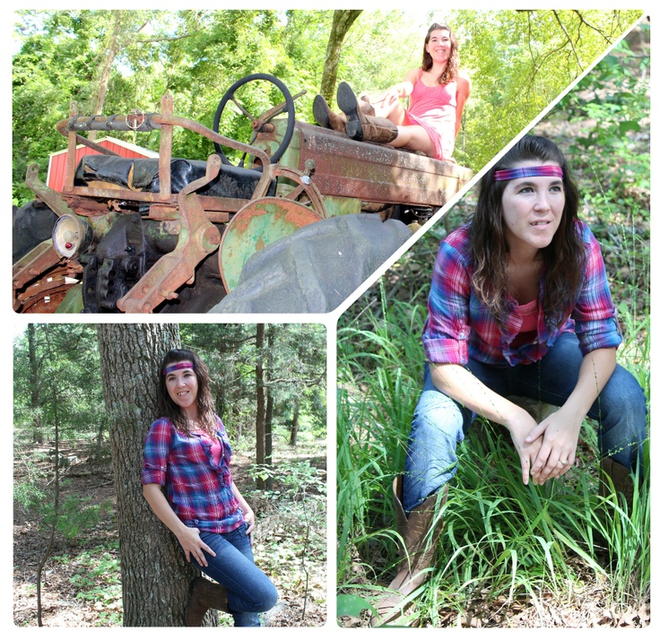 Cherished Moments Photography <3 senior girl pose, country girl, tractor, hippie