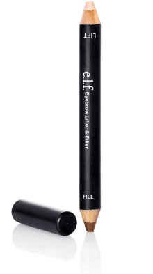 ELF eyebrow lifter & filler, benefit highbrow dupe? This eye brow pencil from ELF is fantastic for the money. It's very soft so you only need to run it gently through the brow and it gives a lovely natural look, the brow highlighter at the other end is great to and it also comes with a pencil sharpener.  A real bargain for anyone on a tight budget