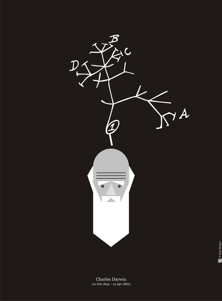Wonderful Darwin Day art by Kapil Bhaghat (Tumblr)