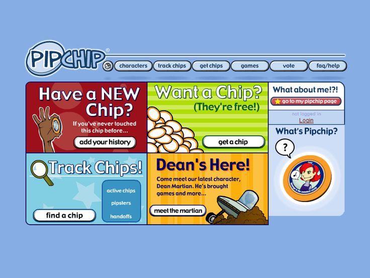 Pipchip website in 2002