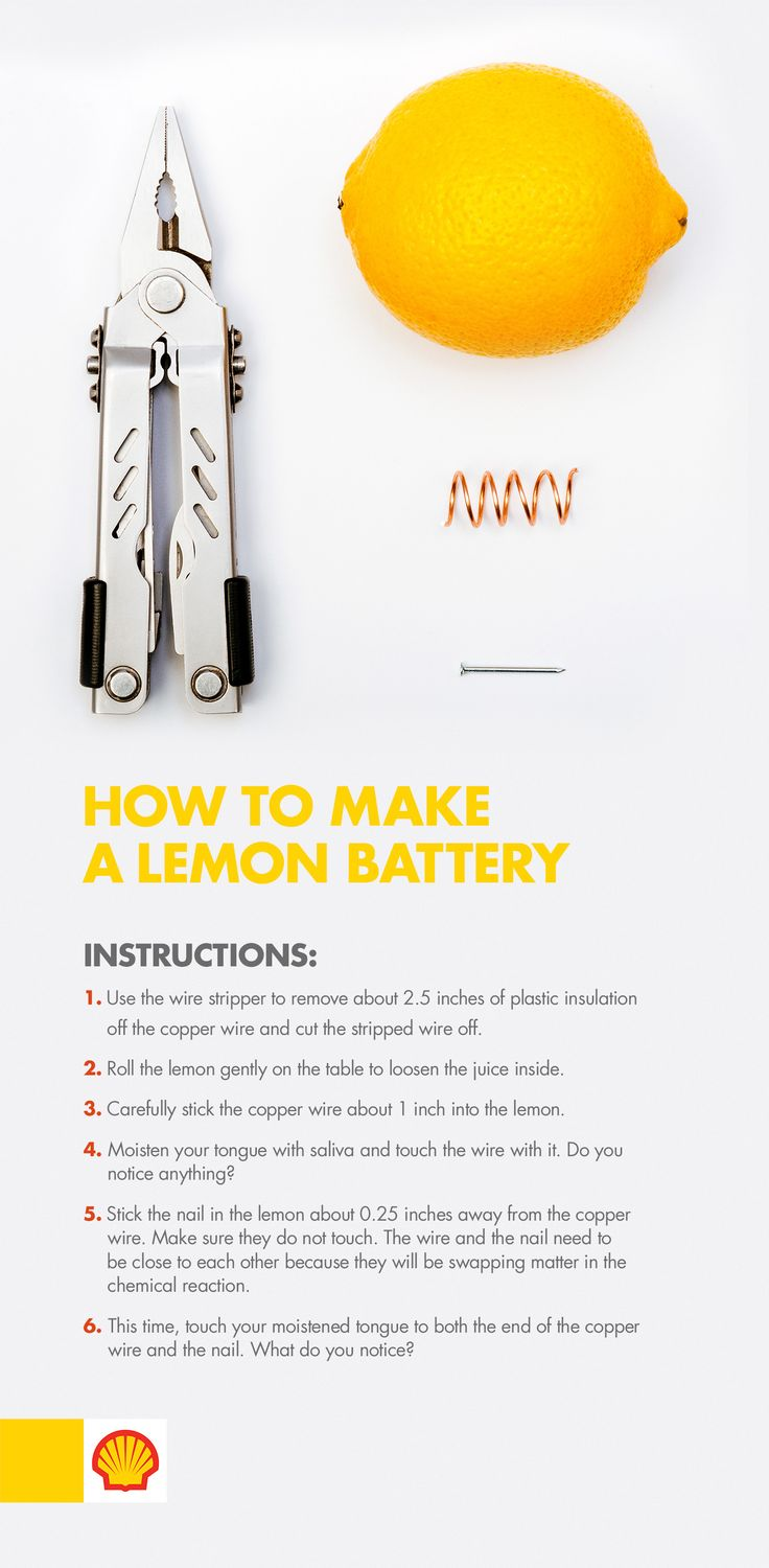 Power up! For a quick science experiment that only needs four household items, teach kids about electricity with a DIY lemon battery. #ShellScienceFair