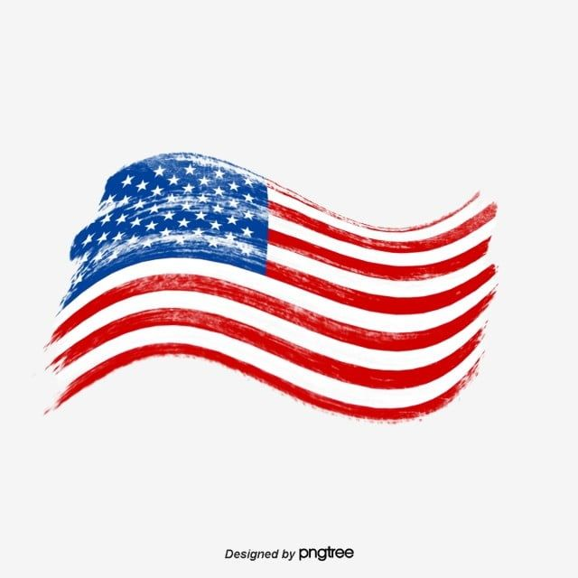 Flying The American Flag As An Old Brush National Flag Brush Usa Png Transparent Clipart Image And Psd File For Free Download American Flag Wallpaper Hand Painted American Flag Flag