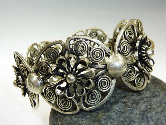 Miao Bracelet Silver bracelet Tribal Bracelet by neemaheTribal