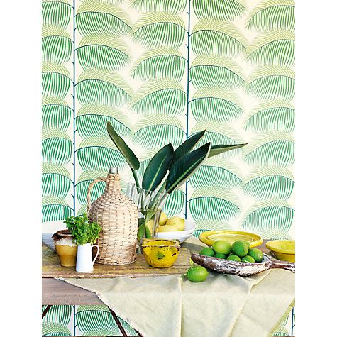 Buy Sanderson Manila Wallpaper Online at johnlewis.com green version