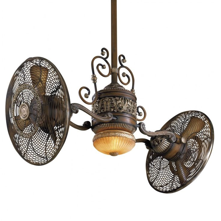 Two fans on a light.