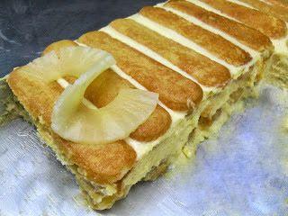 Paprika En La Cocina: Tiramisú de piña y mascarpone