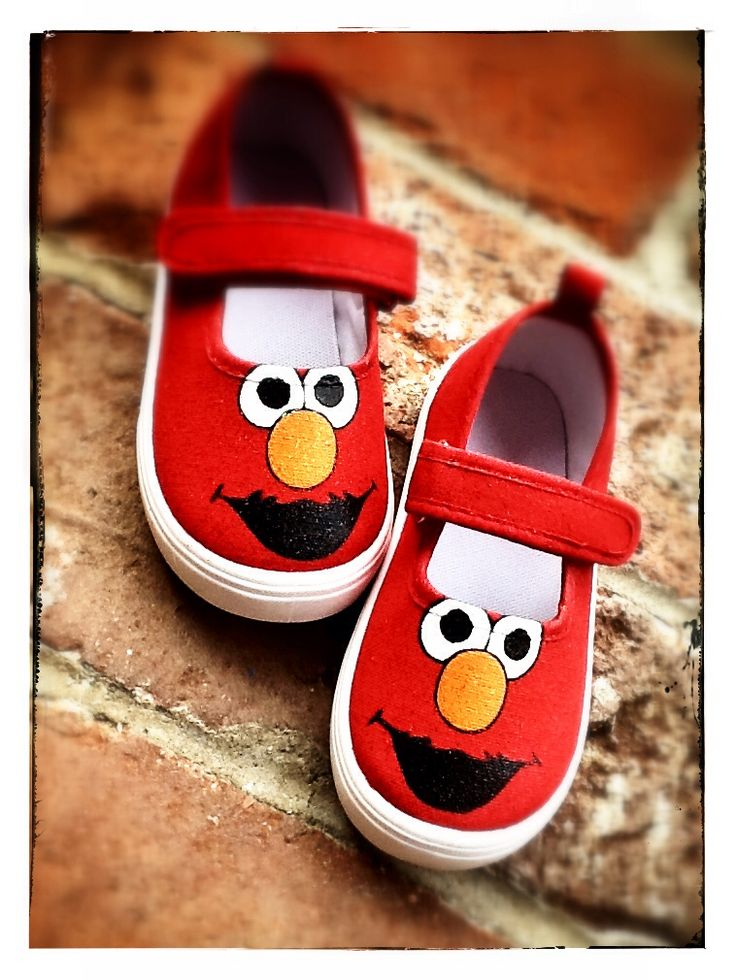 Hand painted shoes Elmo birthday shoes glitter
