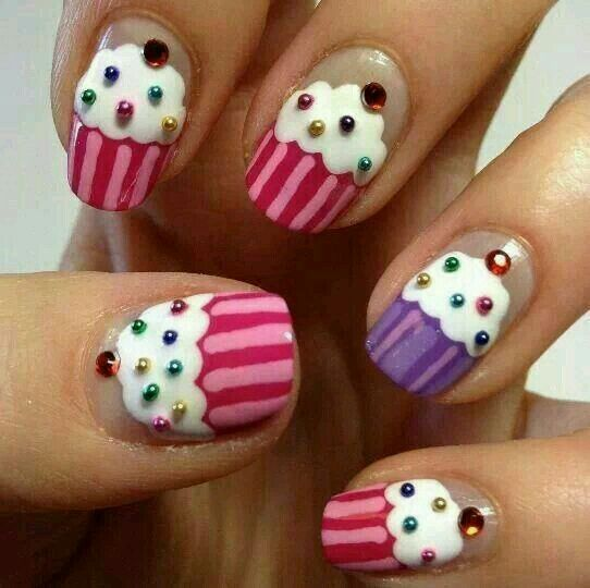 428 best nail art images on pinterest nail design nail scissors image viacupcake birthday cake nail art in beautiful blue pink and bright colorsage viahave all the cake you want its your birthday prinsesfo Choice Image