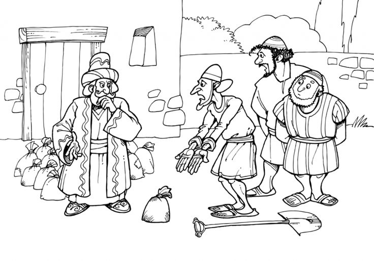 matthew 25 coloring pages - photo#12