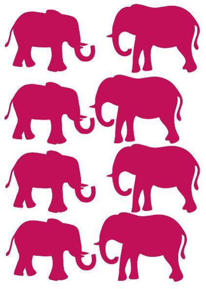De olifanten muurstickers zijn 65x50 mm, er zitten er 8 op een vel. Ze zijn gemaakt van een matte stickerfolie van zware kwaliteit. De stickers zijn makkelijk verwijderbaar en opnieuw te gebruiken. Zowel binnen als buiten toepasbaar. Verkrijgbaar in de kleuren zwart, wit, mintgroen, roze, fuchsia roze, blauw, marine blauw en