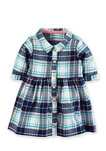 Carter's® Flannel Shirt Dress Girls Newborn