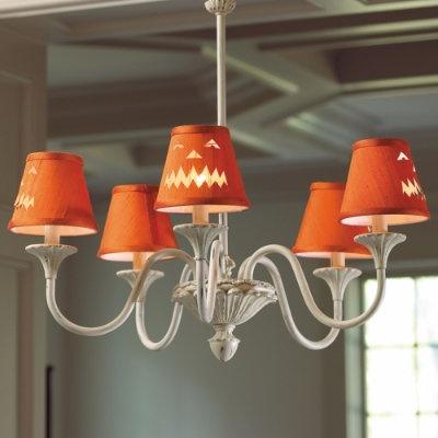 17 Best images about Halloween Lamp Shades – Orange Chandelier Shades