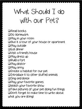 CLASS PET WRITING JOURNAL - TeachersPayTeachers.com