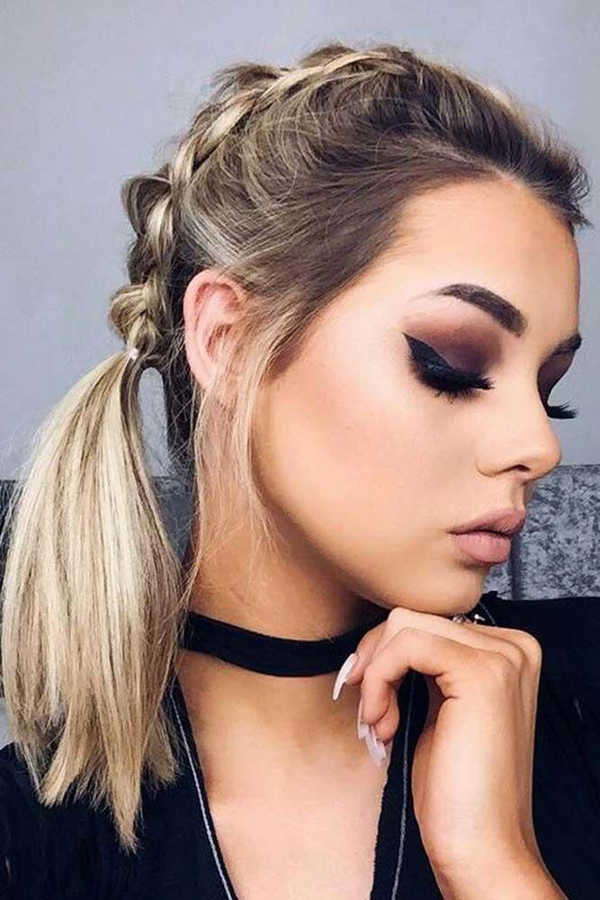 updo hairstyles with braids Top Knot #hairdoforshorthair