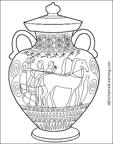 ancient greece coloring pages | Coloring Pages : Greek Amphora