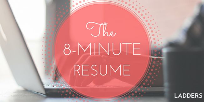The 8-Minute Resume Resume builder and Job interviews - the ladders resume