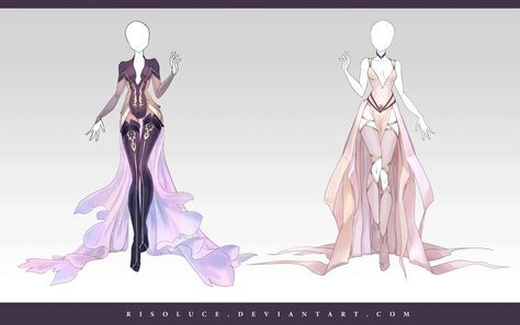 (OPEN) Adoptable Outfit Auction 157-158 by Risoluce.deviantart.com on @DeviantArt