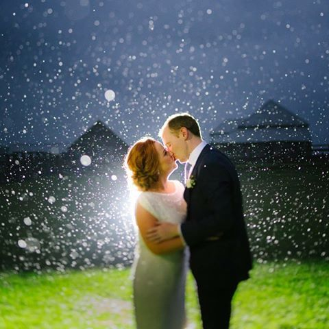 Rain isn't so bad on your wedding day...upstyle//redhead//bridal hair www.maplelane.com.au