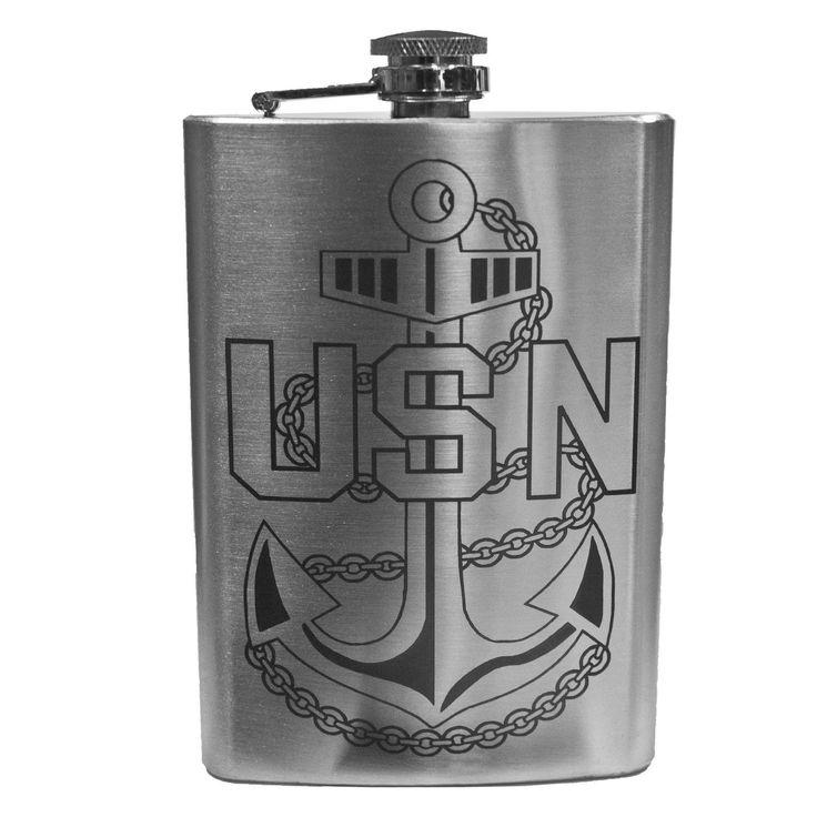 8Oz Navy Chief Flask L1