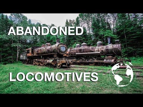 The Locomotive Boneyard Deep In The Forest Of Maine