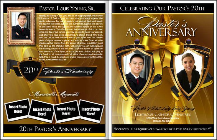 Pastors Anniversary Program Template Pastor Anniversary Pastors Appreciation Pastor