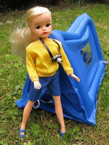 Sindy's inflateable tent
