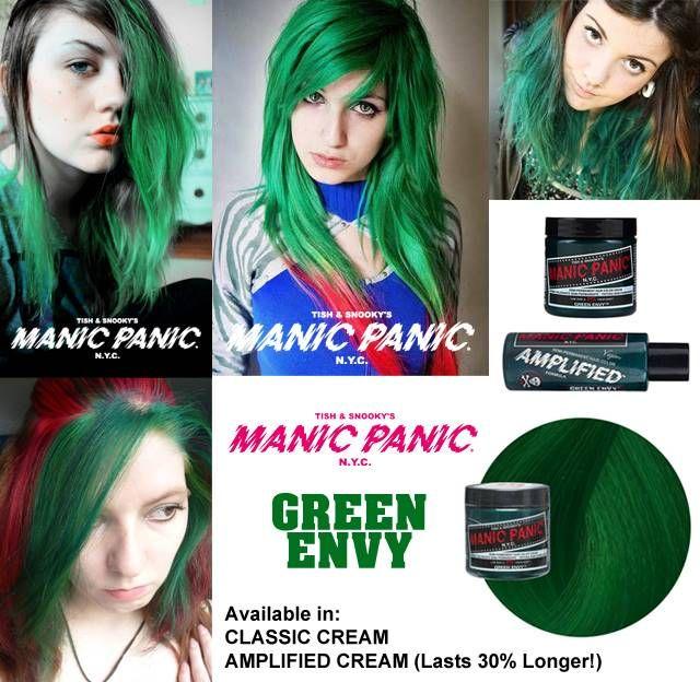 tinte verde para el pelo manic panic green envy