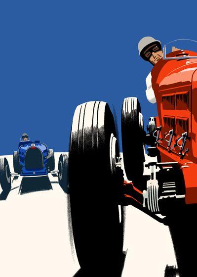 Alfa Romeo Art - 1931 Italian Grand Prix - Autodromo di Monza