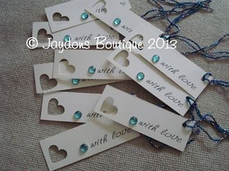 These little tags are ideal for attaching to your Wedding/Gift Favours, ask your guests to add a message on the back and attach them to your wish tree x