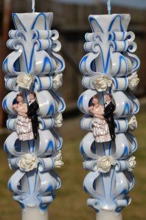 Lumanare de nunta sculptata LN 607 D36x90